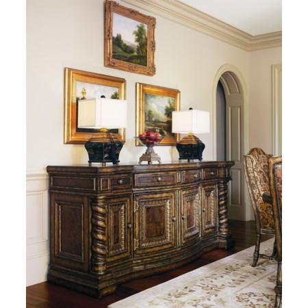 Dining Credenza with Madeira Marble Top