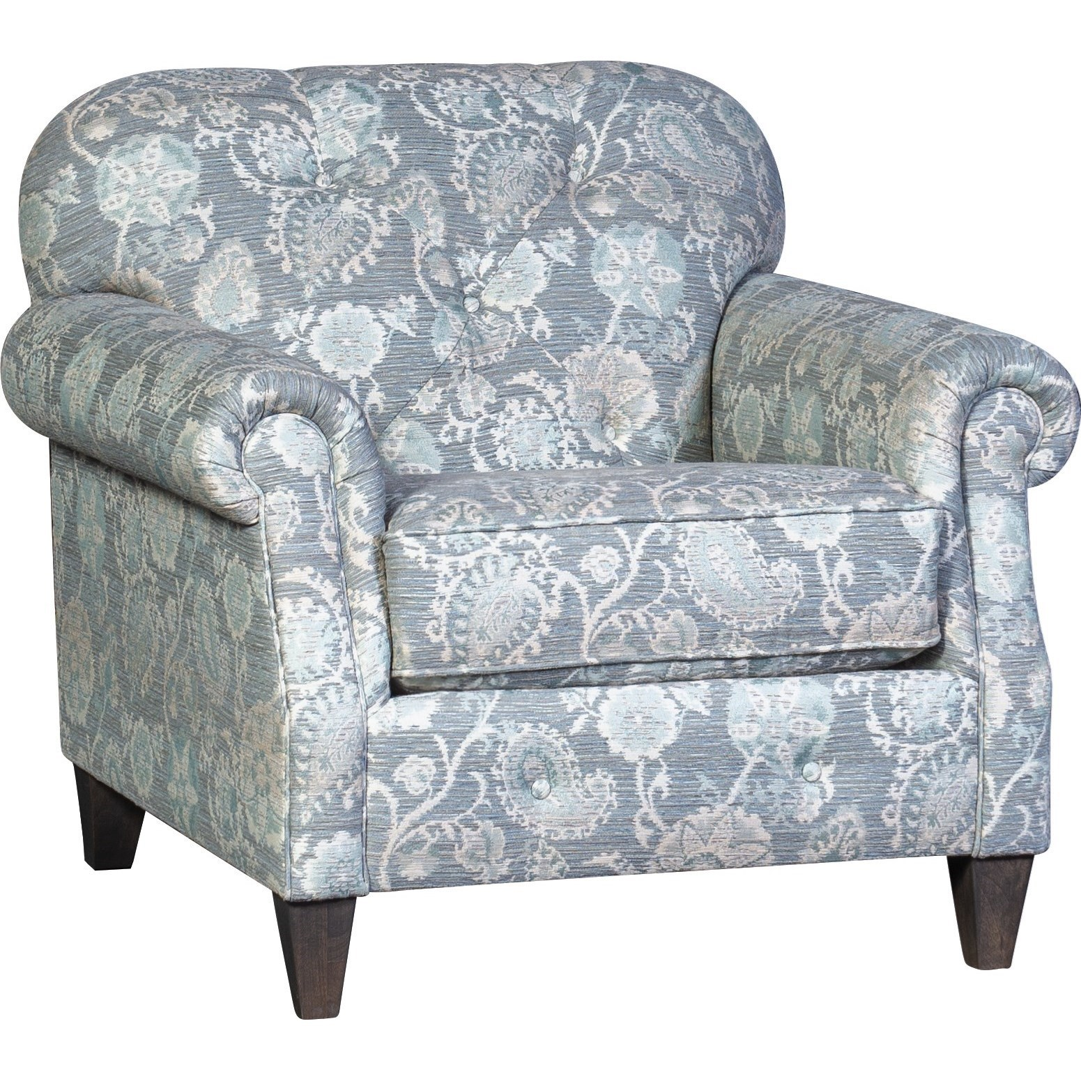 Mayo 2262 Transitional Tufted Chair With Nailhead Detail