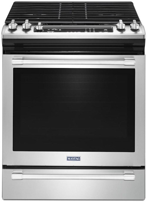 maytag 30 inch wide slide in gas range with true convection and fit system 5 8 cu ft. Black Bedroom Furniture Sets. Home Design Ideas