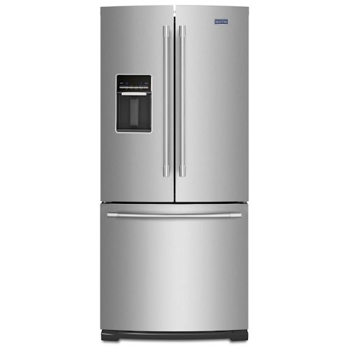 Maytag 30 inch wide french door refrigerator with exterior for Wide french doors