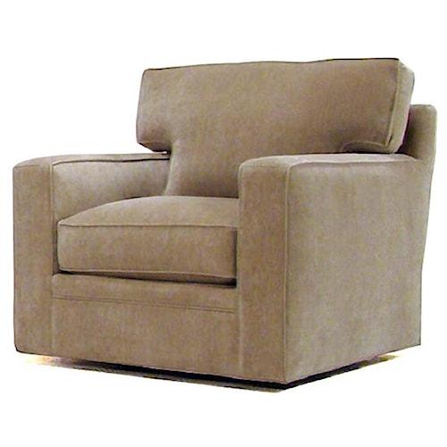 Bemodern Porter Contemporary Upholstered Swivel Chair Belfort Furniture Upholstered Chair