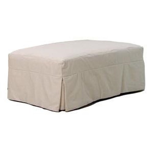 Bemodern Cloud Large Slipcover Ottoman With Pleated Skirt
