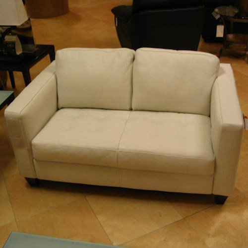 Natuzzi Editions A323 Leather Loveseat Boulevard Home