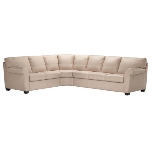 Natuzzi Editions A121 Spacious Sectional Couch Furniture Superstore Rochester Mn