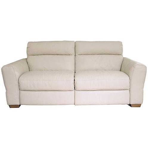 Natuzzi Editions B627 Transitional Power Reclining Sofa