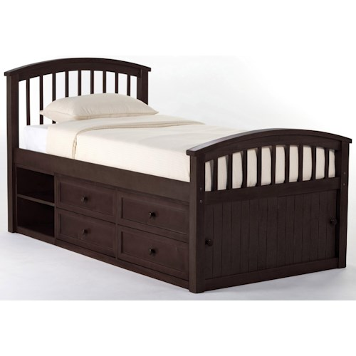 Ne Kids School House Twin Captain Bed W Storage Colder 39 S Furniture And Appliance Captain 39 S Beds