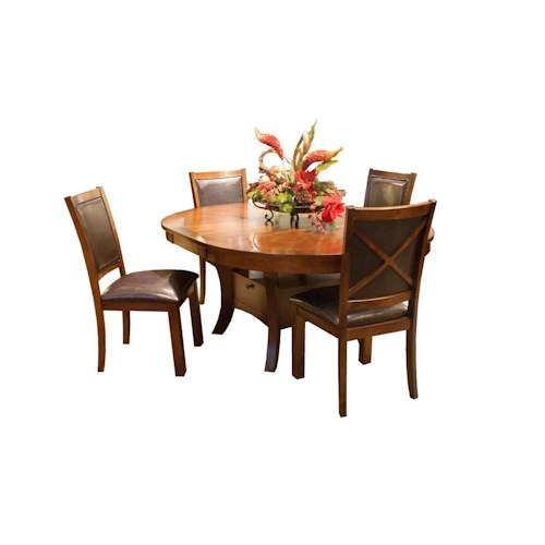 Classic Home Decor Pieces: New Classic Aspen 5 Piece Dining Set