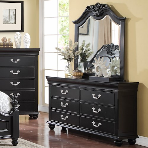New Classic Jaquelyn Dresser Mirror Bedroom Set Boulevard Home Furnishings Dresser Mirror