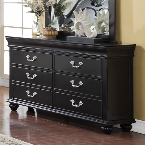 New Classic Jaquelyn 6 Drawer Dresser Boulevard Home Furnishings Dresser