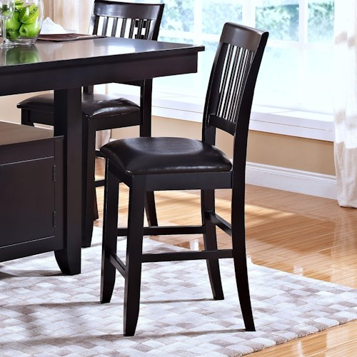 New Classic Kaylee Counter Height Chair With Slat Back Dream Home Furniture Bar Stool