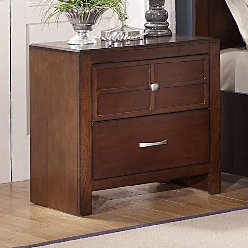 New Classic Kensington Two Drawer Nightstand Boulevard Home Furnishings Night Stands