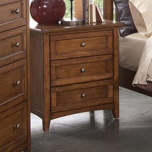New Classic Logan Three Drawer Nightstand Wilson 39 S Furniture Night Stand Bellingham