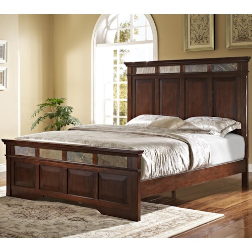 New Classic Madera Queen Bed With Slate Inserts Wilson 39 S Furniture Platform Or Low Profile