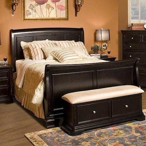 Bedroom Recliner Chairs Bedroom Furniture Floor Plan Cream Carpet Bedroom Bedroom Bench Uk: New Classic Maryhill Queen Sleigh Bed
