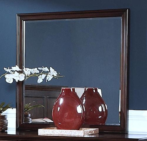 New classic prescott square mirror w beveled glass for Prescott mirror