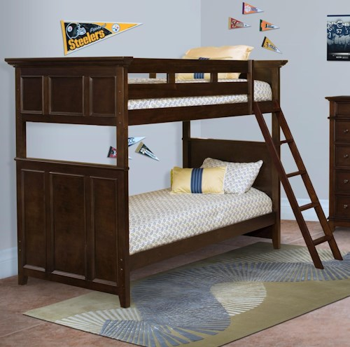 New Classic Prescott Twin Twin Bunk Bed With Panel Detailing Wilson 39 S Furniture Bunk Beds