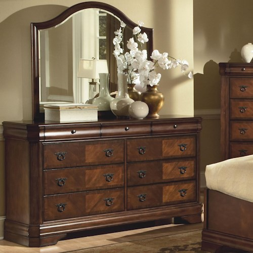 New Classic Sheridan Dresser W Beveled Mirror Rife 39 S Home Furniture Dresser Mirror