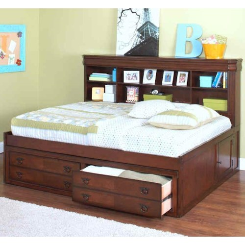 New Classic Sheridan Full Youth Storage Lounge Bed Boulevard Home Furnishings Captain 39 S Bed