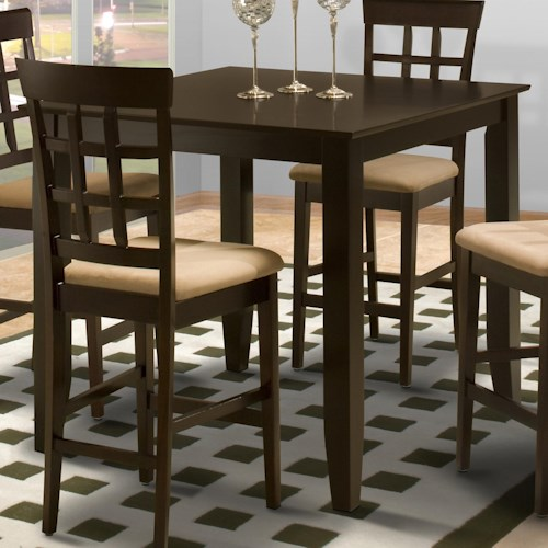 Apartment Kitchen Table And Chairs: New Classic Style 19 Square Counter Height Kitchen Table