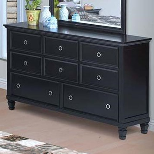 New Classic Tamarack Eight Drawer Dresser Boulevard Home Furnishings Dressers