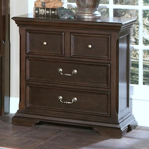 new classic timber city four drawer night stand boulevard home furnishings night stand. Black Bedroom Furniture Sets. Home Design Ideas