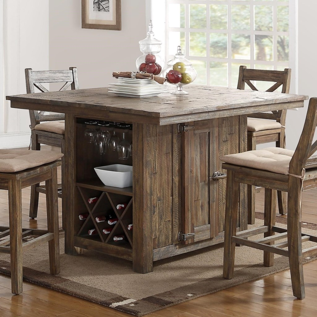 New Classic Tuscany Park Pub Table with Wine Glass and Bottle ...