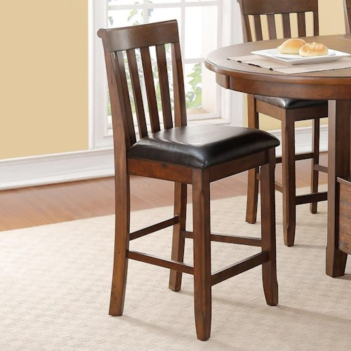 New Classic Wilson Splat Back Counter Chair With Upholstered Seat Beck 39 S Furniture Bar Stool