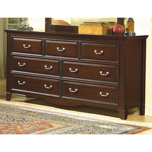 New Classic Drayton Hall Seven Drawer Dresser Boulevard Home Furnishings Dressers
