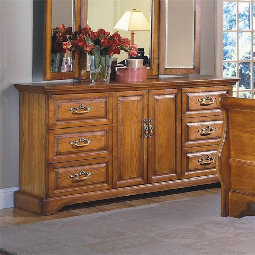 New Classic Honey Creek 6 Drawer Dresser Boulevard Home Furnishings Dresser