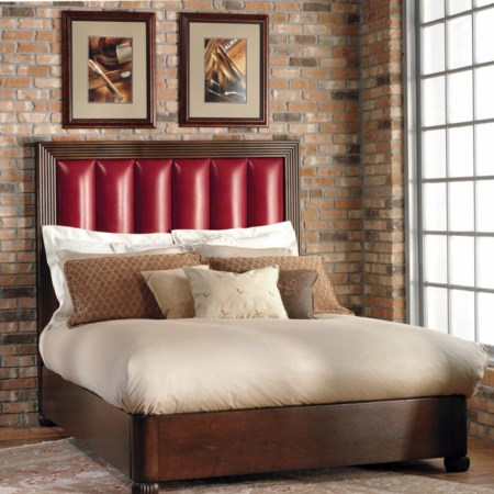 Redford Platform Bed with Upholstered Headboard