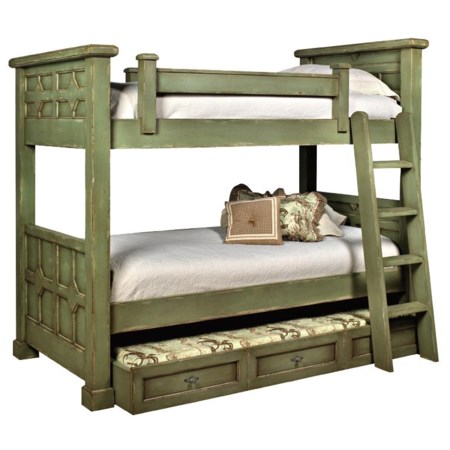 Kristina Wood Bunk Bed with Trundle
