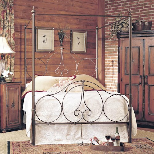 old biscayne designs custom design iron and metal beds phoebe metal canopy bed design. Black Bedroom Furniture Sets. Home Design Ideas