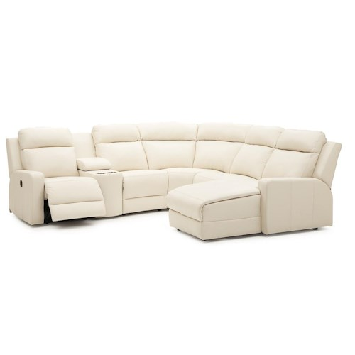 Palliser forest hill reclining sectional sofa chaise for Chaise 25 euros