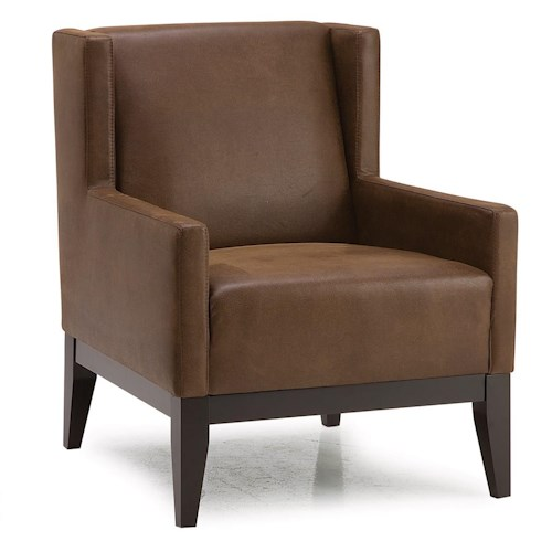 Pillows For Living Room Chairs: Palliser Helio Contemporary Wing-Back Accent Chair W/ 2
