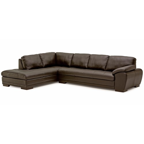 Palliser miami contemporary sectional sofa with chaise for Modern sectional sofa miami