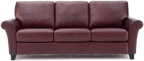 Palliser rosebank transitional sofa with flared arms for Furniture 77429