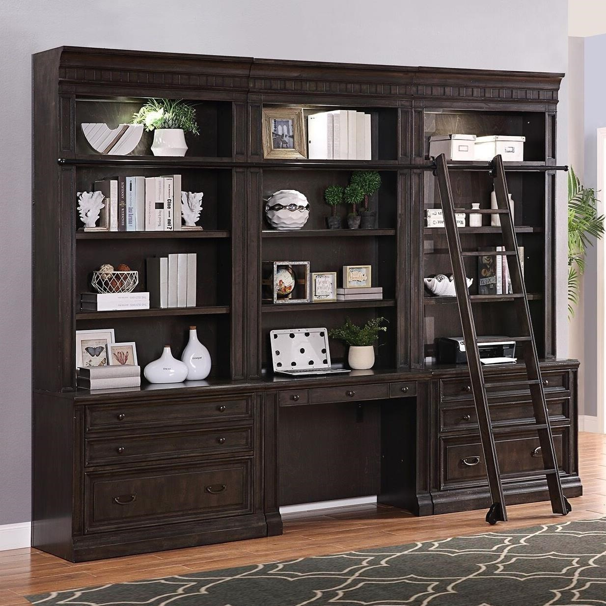 Parker House Washington Heights Bookcase Wall Unit With Desk