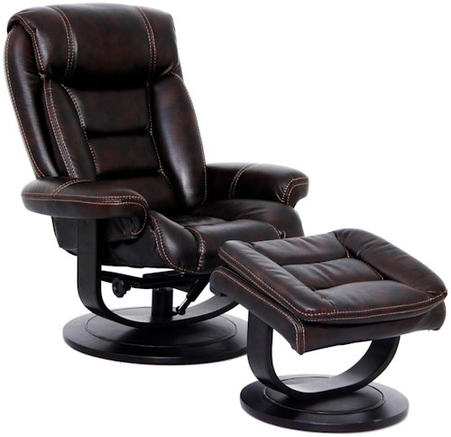 Triton swivel recliner and ottoman nutmeg rotmans for Furniture 0 percent financing