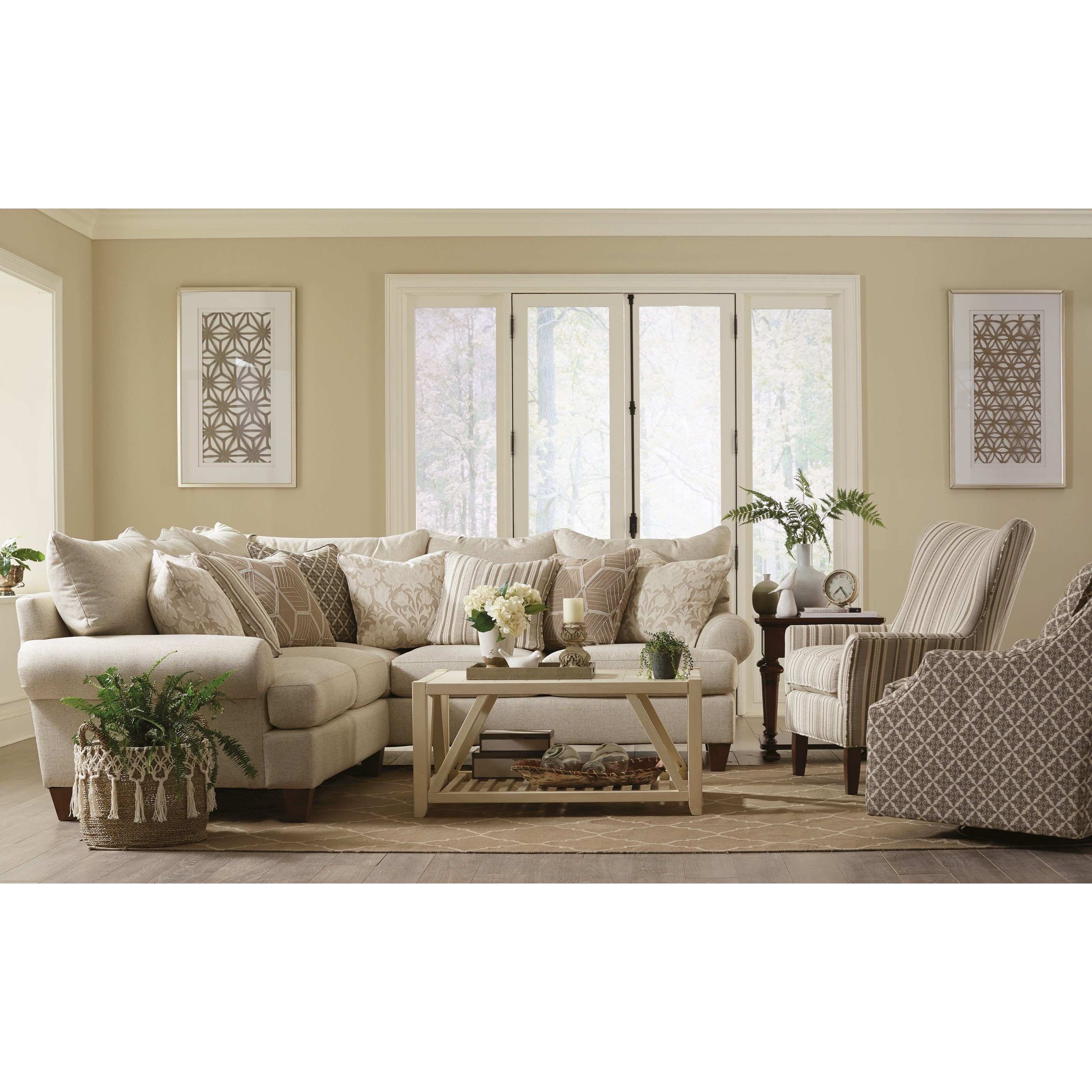 Paula Deen By Craftmaster P781650 4 Seat Sectional Sofa