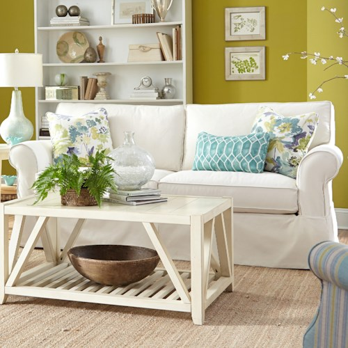 Paula Deen By Craftmaster P928500 Slipcover Sofa With Skirt Furniture Barn Sofa Pennsville