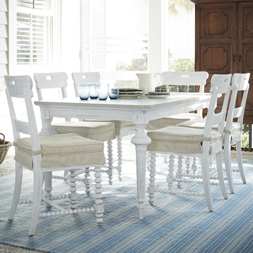 Paula deen by universal dogwood 7 piece dining set with for Dining sets nashville tn