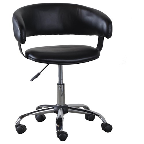 Powell Accent Furniture Black Gas Lift Desk Chair Bullard Furniture Offic