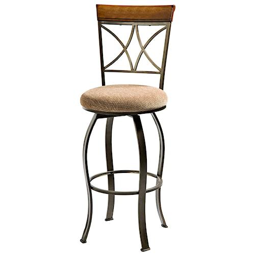 Powell hamilton swivel bar stool furniture fair north for Dining room tables jacksonville nc