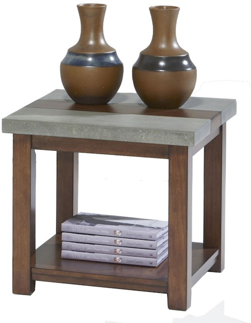 Progressive furniture cascade p426 02 square lamp table for Furniture 0 percent financing