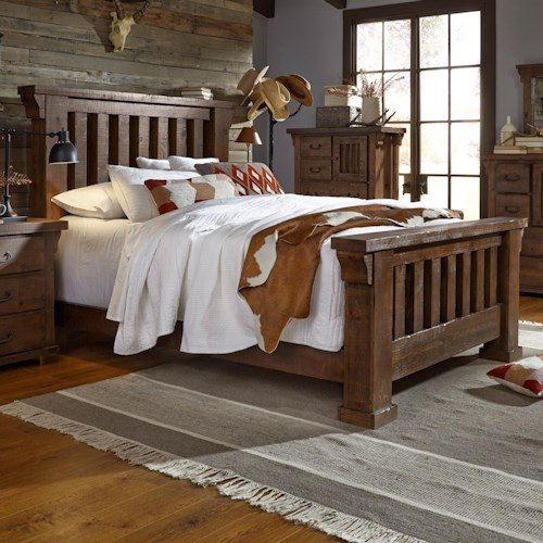 Progressive furniture forrester king slat bed northeast for Furniture 0 percent financing