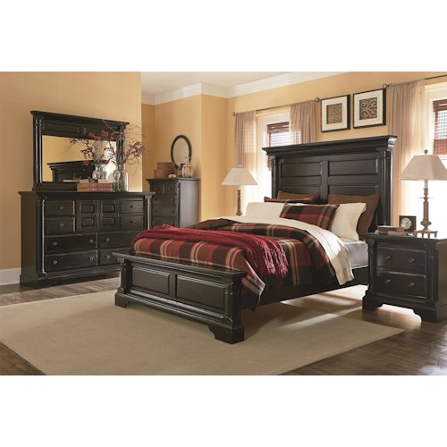 Progressive furniture gramercy park queen bedroom group for Bedroom furniture groups