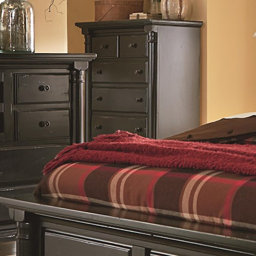 Progressive Furniture Gramercy Park Traditional Chest Of Drawers With Scalloped Bracket Foot
