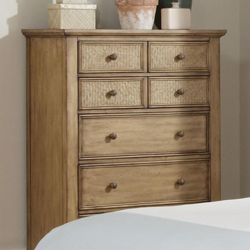 Progressive furniture kingston isle chest with 7 drawers for Furniture kingston