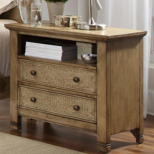 Progressive furniture kingston isle p196 44 night stand for Furniture 0 percent financing