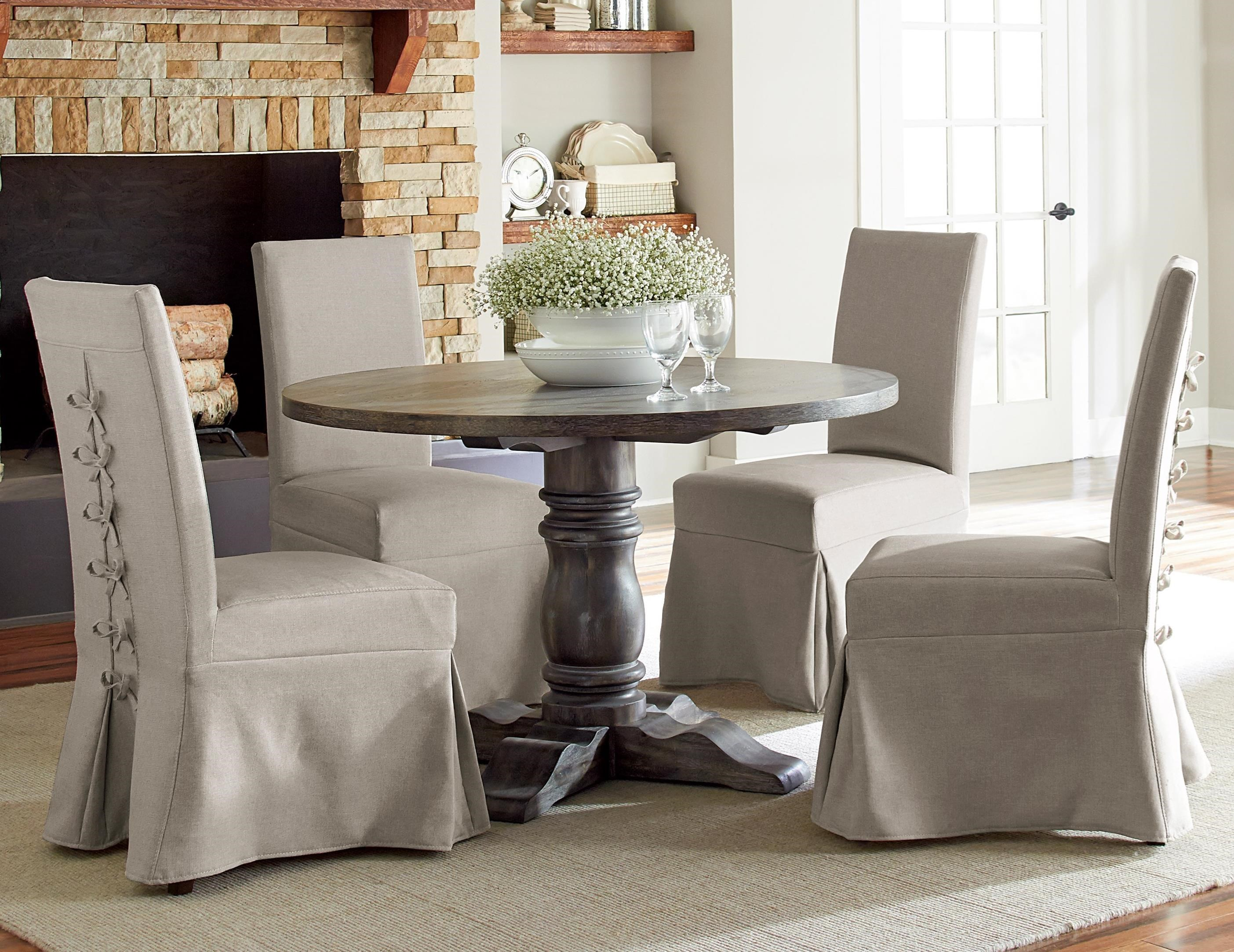 Muses 5 Piece Round Dining Table Set